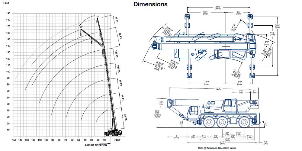 Mobile Crane 50 Ton Dimension : Star crane service